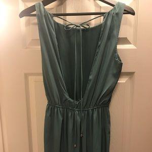 Grecian Split Thigh Maxi Dress